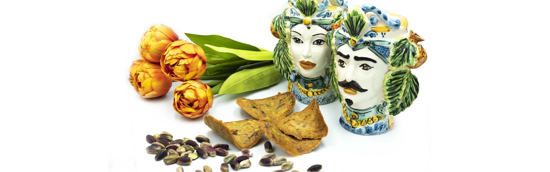 voglie di thè al pistacchio con scenografia